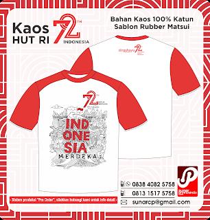 Kaos Indonesia, Kaos kemeerdekaan, kemerdekaan indonesia 72, indonesia merdeka 72, kaos indonesia 72, kaos kemerdekaan 2017
