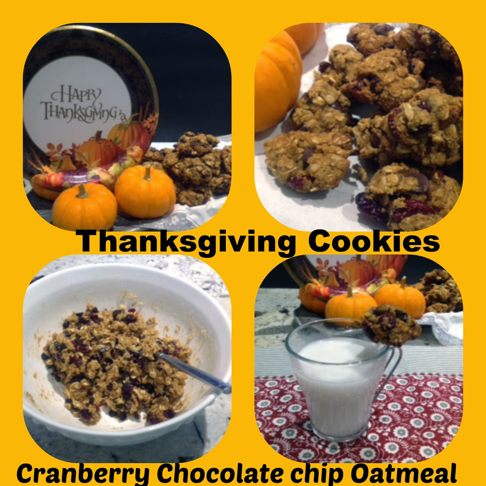Thanksgiving cranberry oatmeal cookies- GF