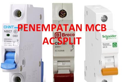 Penempatan MCB Untuk AC Split