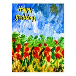 Happy Birthday Postcard by Artmiabo