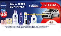 Logo Nivea Sali a Bordo: vinci Kia Picanto