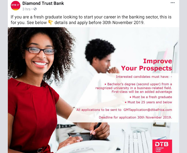 Diamond Trust Bank  graduate interns