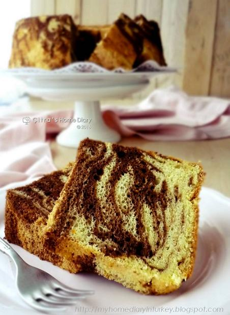 Orange Chocolate Marble Chiffon Cake