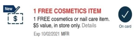 FREE Beauty item (value $5) CVS crt or App store Coupon (Select CVS Couponers)