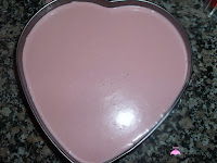 Crema de fresas en el molde