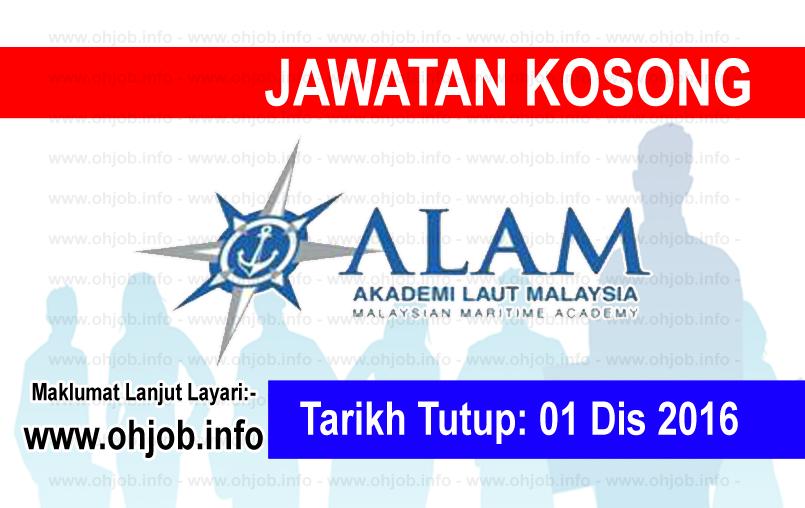 Jawatan Kerja Kosong Akademi Laut Malaysia (ALAM) logo www.ohjob.info disember 2016