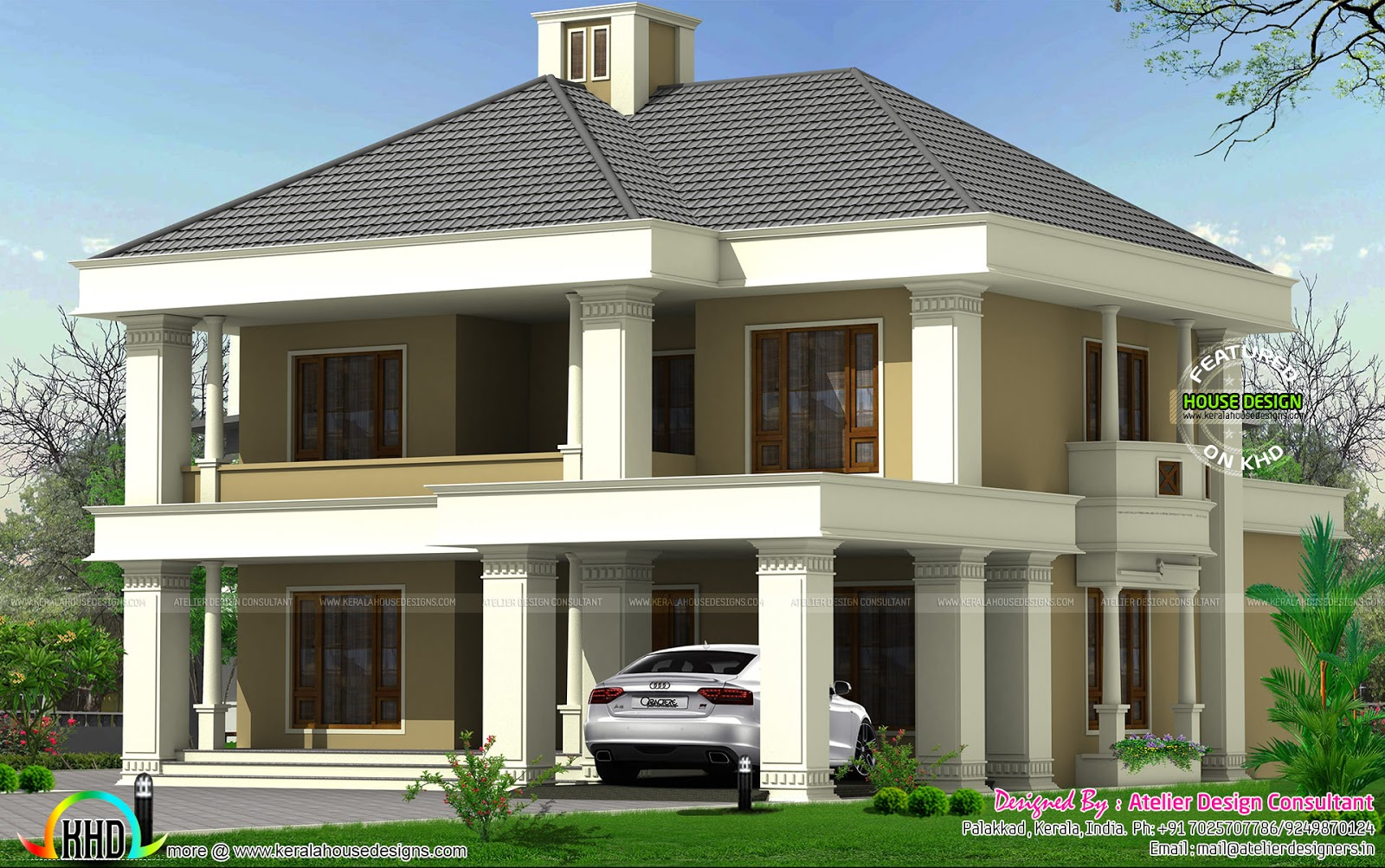Colonial model house in 2000 sq ft. April 2016   Kerala home design and floor plans