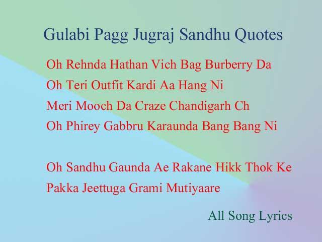 Gulabi Pagg Song By Jugraj Sandhu Lyrics