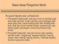 Moralitas Objektivistik dan Relativistik
