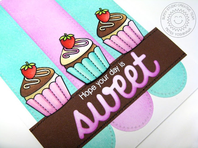 Sunny Studio Stamps: Sweet Shoppe Cupcake Card created for Simon Says Stamp