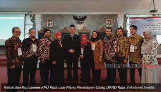 penetapan caleg DPRD Kota Sukabumi terpilih