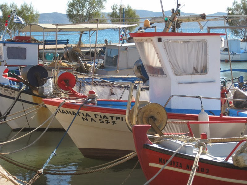 Lavrio's fishing boats