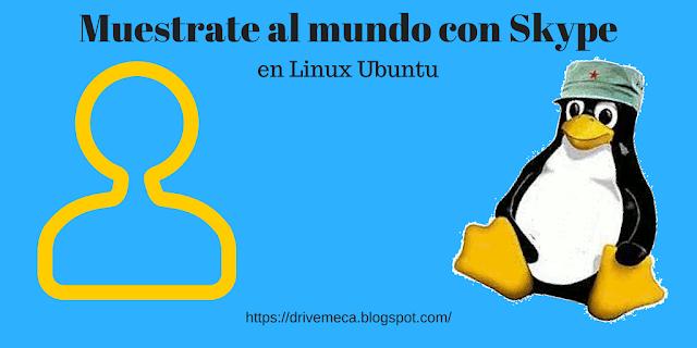 Muestrate al mundo con Skype en Linux Ubuntu