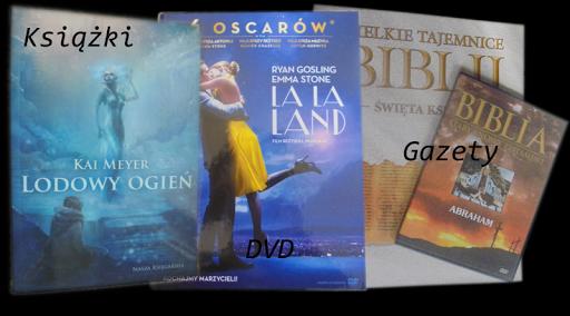 Książki, gazety, DVD