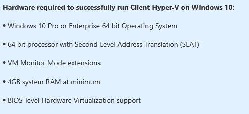 How To Install Hyper-V on windows 10