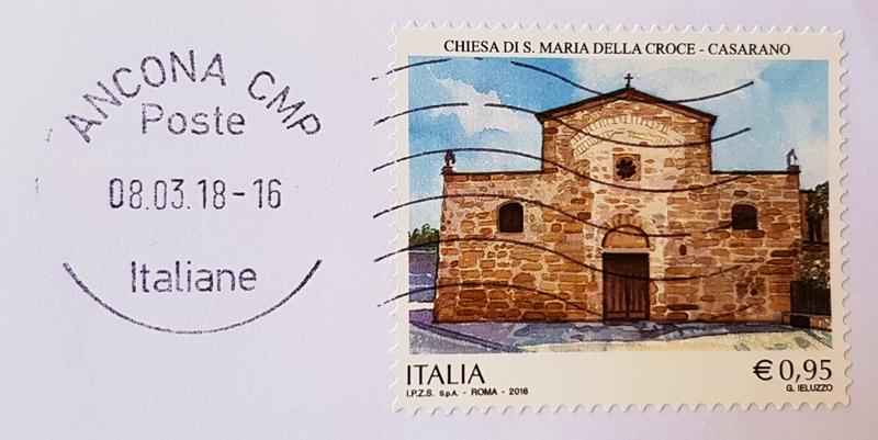 francobollo Chiesa di Santa Maria della Croce - Casarano