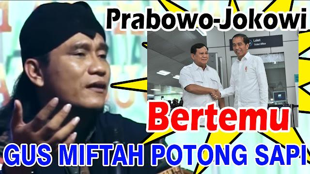 Jokowi dan Prabowo Bertemu, Gus Miftah Syukuran Potong Sapi