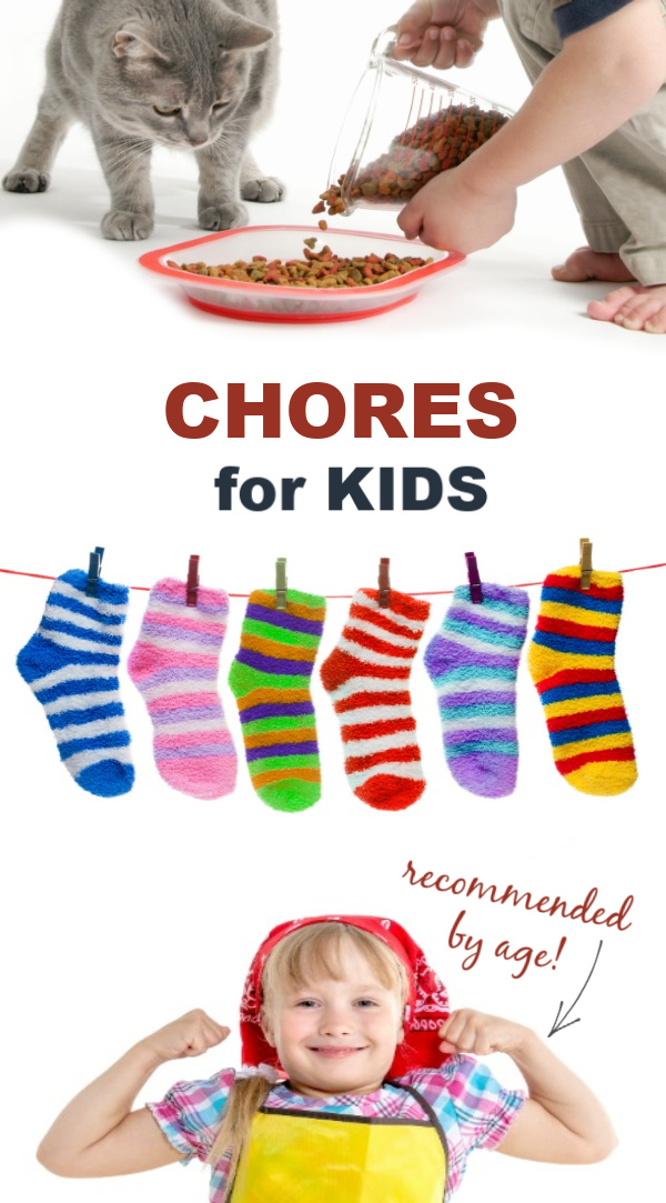 CHORES FOR KIDS broken down by age (PLUS simple ways to make them fun!) #choresforkidsbyage #choresforkids #ageappropriatechoresforkids #ageappropriatechores #howtomakechoresfun #growingajeweledrose #chores #choresbyage