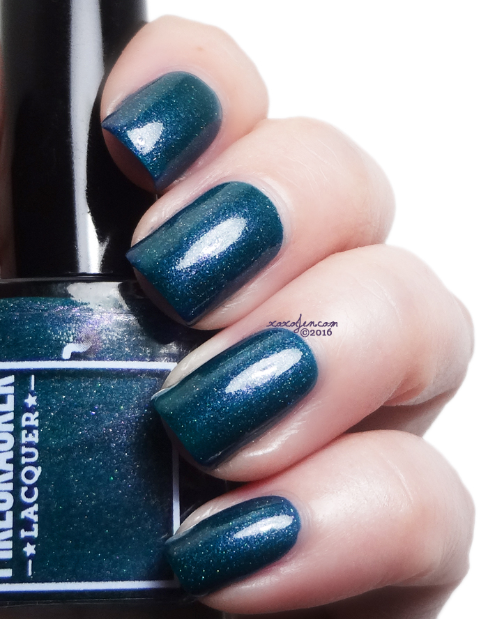 xoxoJen's swatch of Firecracker Lacquer - Teal The End Of Time