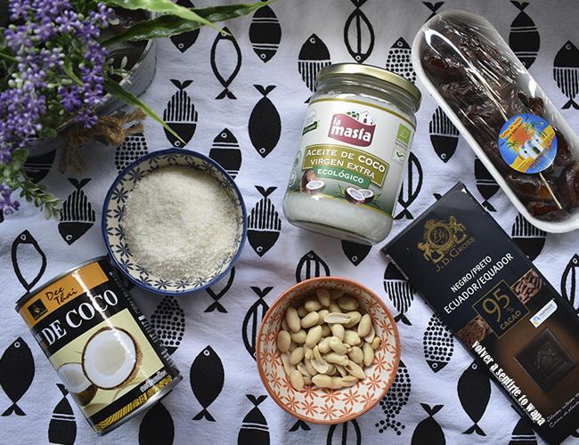 Bounty o barritas de coco caseras y healthy