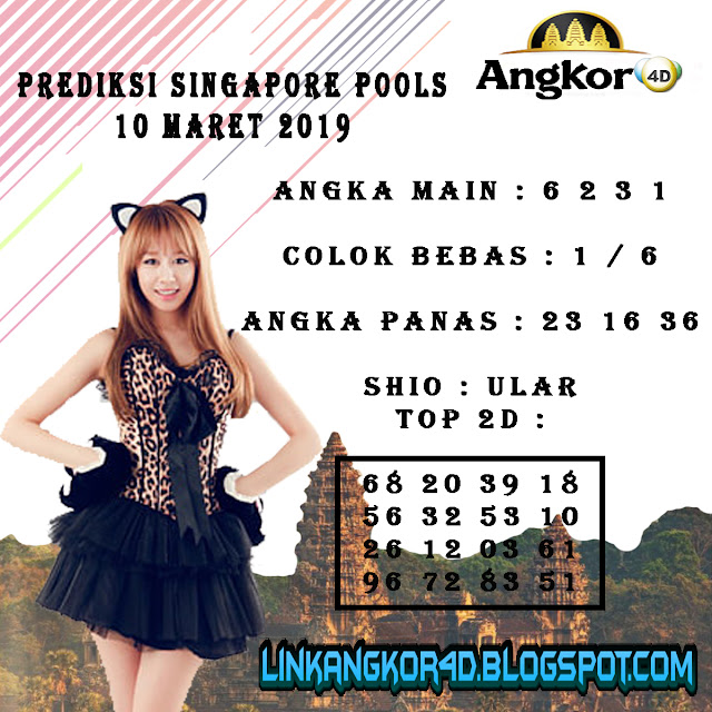 PREDIKSI SINGAPORE POOLS 10 MARET 2019