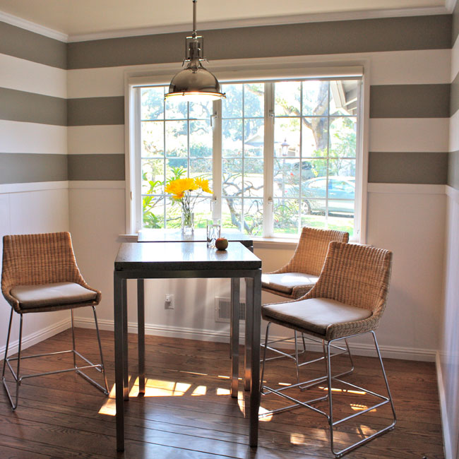 Decorating With Stripes For A Stylish Room: Walls: Wallpapering Around A Chair Rail