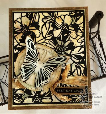 Sara Emily Barker https://sarascloset1.blogspot.com #timholtz #sizzix #flowery #scribblybutterflies 1