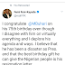 Take A Look At FFK's Congratulatory Message To Buhari At 75; As Nigerians React