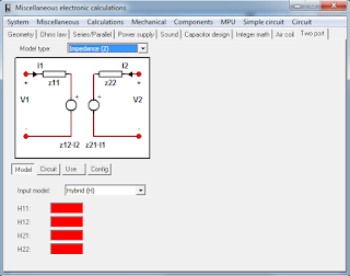 Screenshot 6 : MiscElectronic Calculations