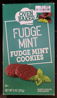 A box of Oven Baked Fudge Mint Cookies, available at Big Lots and Dollar Tree
