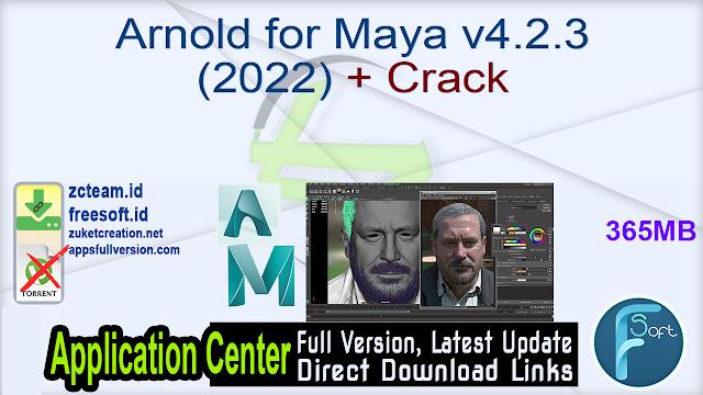 Arnold for Maya v4.2.3 (2022) + Crack_ ZcTeam.id