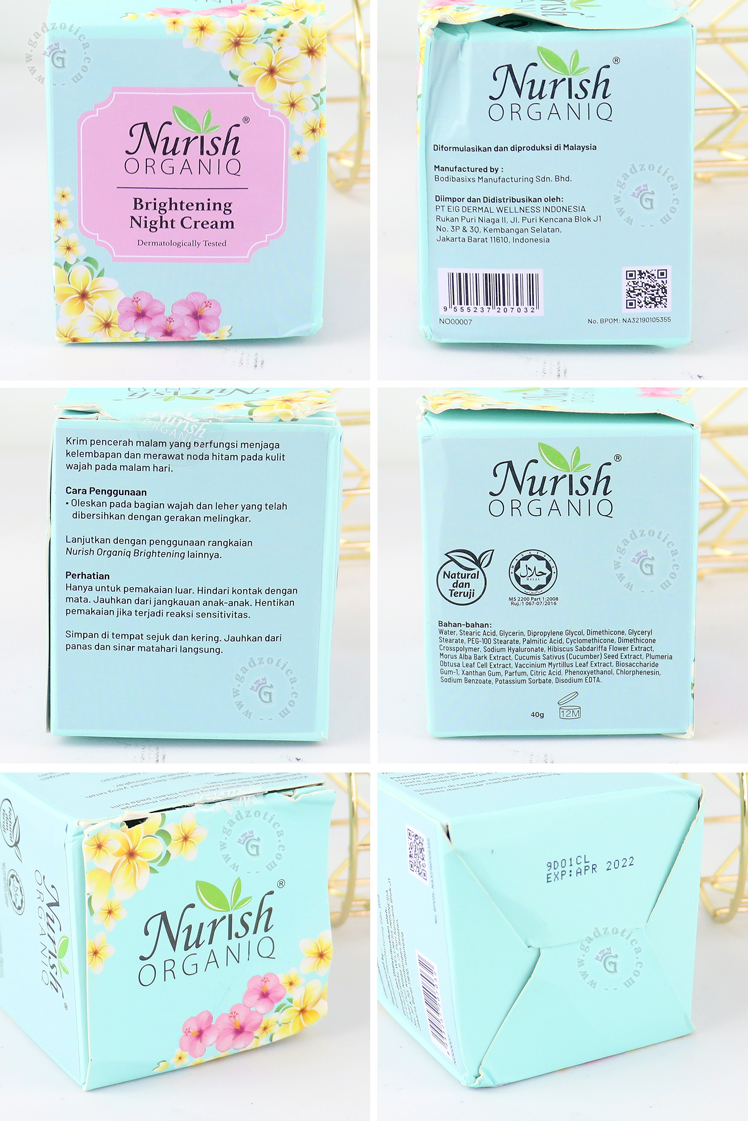Review Nurish Organiq Brightening Night Cream