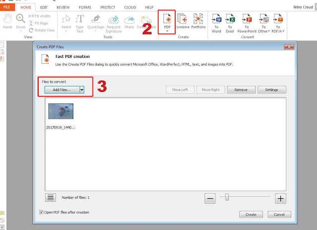 Konversi File Gambar ke PDF Menggunakan Nitro