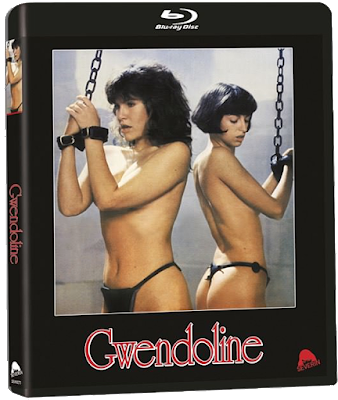 Bluray cover for Severin Films' Standard Edition of GWENDOLINE!