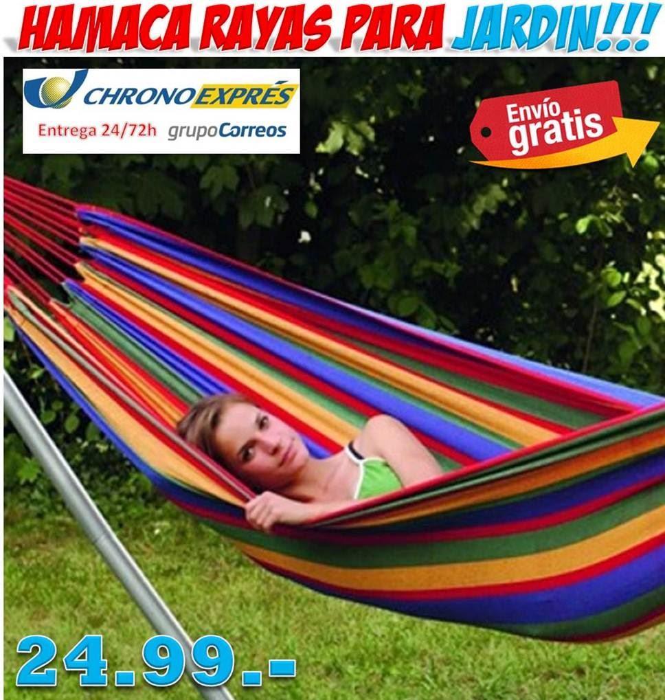 REGALOS Y GADGETS ORIGINALES Y BARATOS: Comprar hamacas para Jardín diseño rayas colores ...