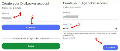 1st enter mo. no. 2nd click continue, 3rd enter otp and click continue