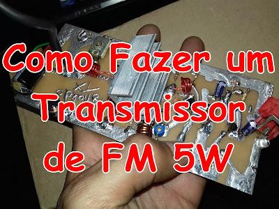 transmissor de FM 5W