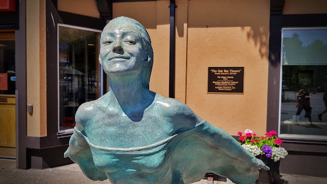 Sculpture on Oak Bay's main street...