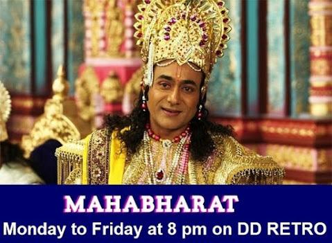 Mahabharat on DD Retro channel, Mahabharat Timing on DD Retro