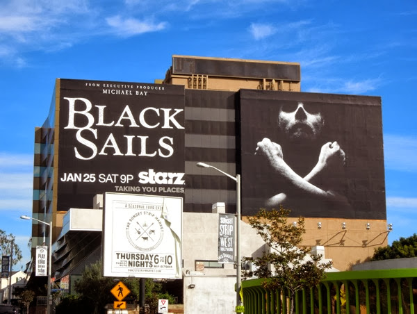 Giant Black Sails series premiere billboard Sunset Strip