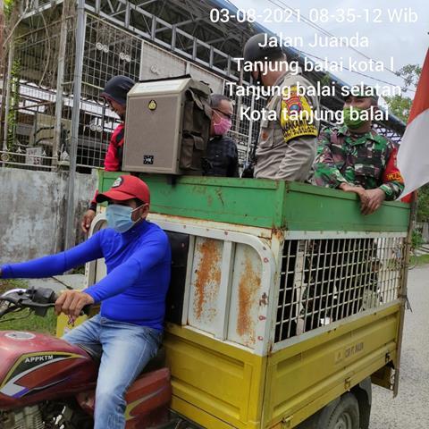 Berikan Himbauan Pemasangan Bendera Merah Putih Dilakukan Personel jajaran Kodim 0208/Asahan