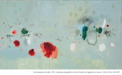 MARIE-HÉLÈNE BELLAVANCE - LES NÉNUPHARS DE LÉLÉ / Galerie Dominique Bouffard