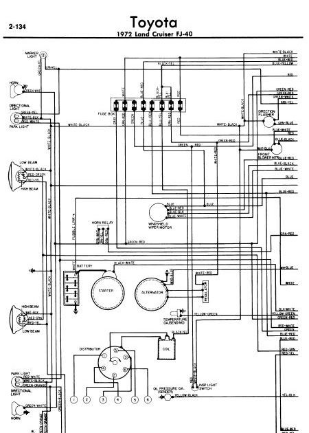 toyota land cruiser fj40 diagram chart guide