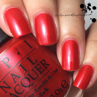swatch and review of Gimme a Liddo Kiss from opi 2015 venice collection