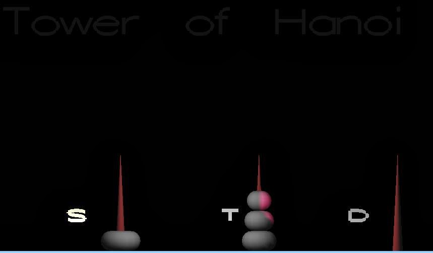 OpenGL Projects: Tower of Hanoi Computer Graphics Project