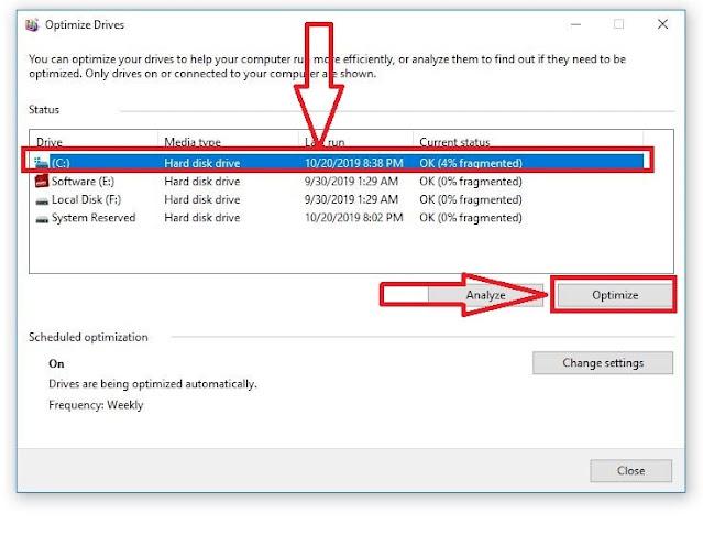 كيفية إلغاء تجزئة القرص الصلب في ويندوز 10