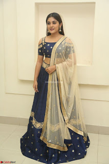 Niveda Thomas in Lovely Blue Cold Shoulder Ghagra Choli Transparent Chunni ~ Exclusive Celebrities Galleries 006