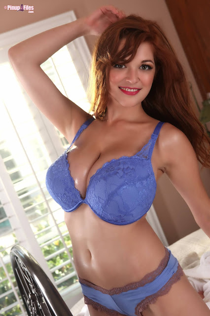 Tessa Fowler blue bikini exclusive strip tease