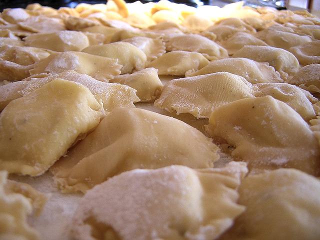 ricetta e ricette Ravioli di pesce Primi piatti di Natale