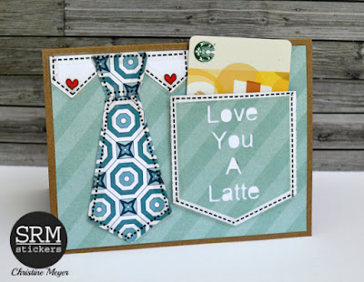 SRM Stickers Blog - Coffee Lovers Blog Hop - Father's Day Card by Christine Meyer - #card #coffee #stickers #borders #fathersday